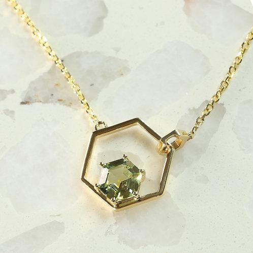 Hexagon Sapphire Necklace
