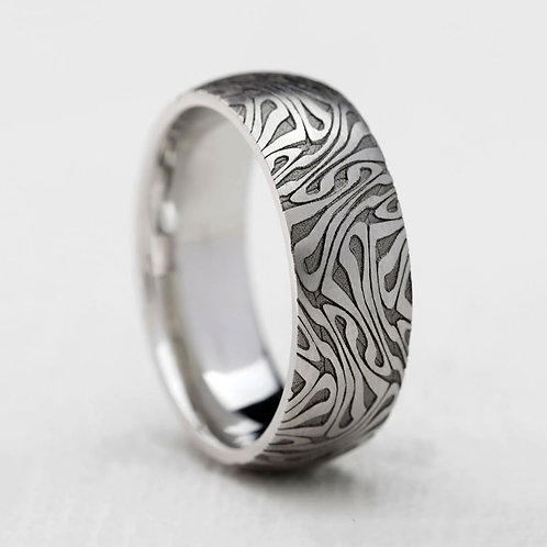 Engraved Swirl Band