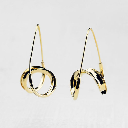 Double Spiral Drop Earrings