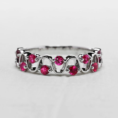 Ruby Swirl Ring