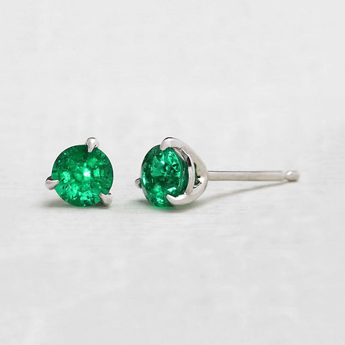 .74tcw Emerald Studs