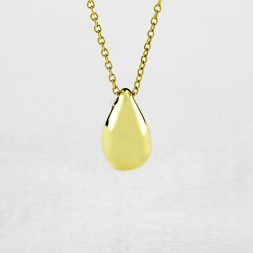 Gold Teardrop Necklace