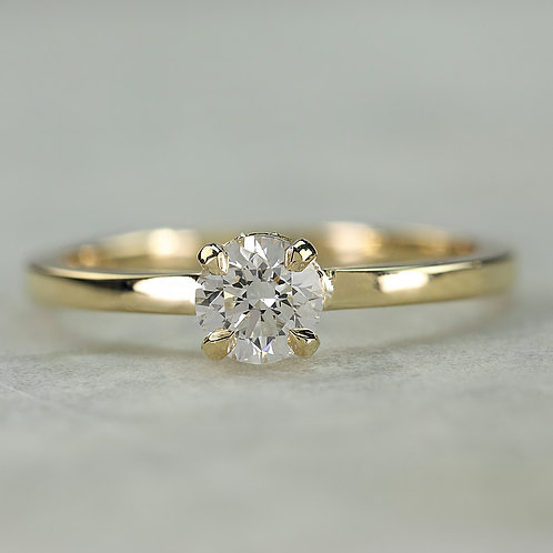 Lab Grown Solitaire Diamond Ring
