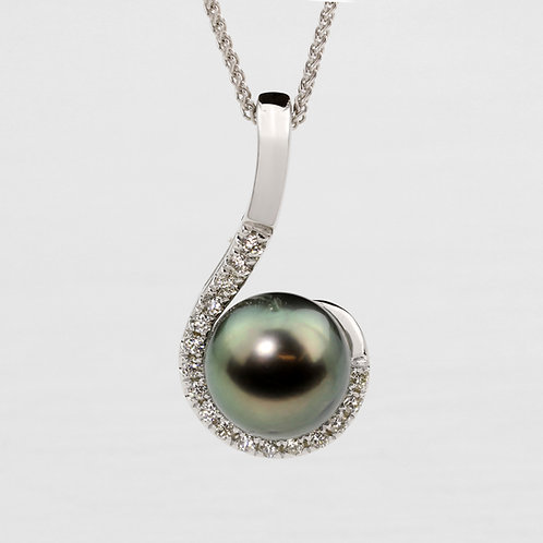 Curved Pearl Pendant