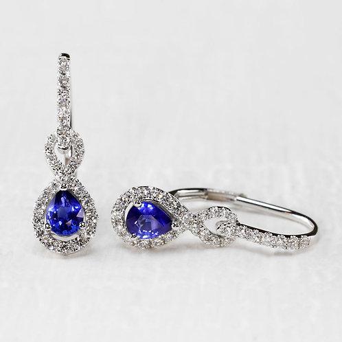 Infinity Sapphire & Diamond Leverbacks