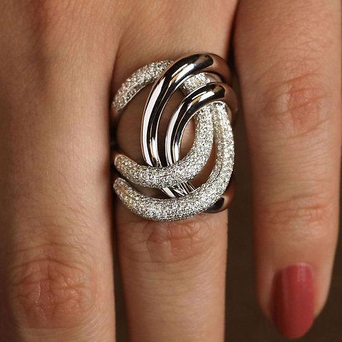Pavé Swirl Ring