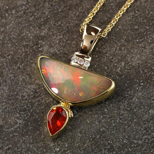 Opal Duo Pendant
