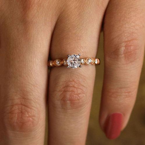 Rose Gold Pattern Ring