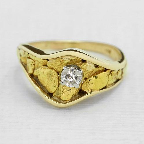 California Gold Nugget Ring