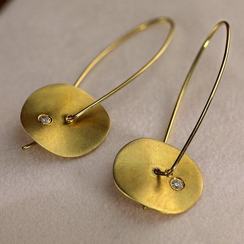 Satin Disc Earrings