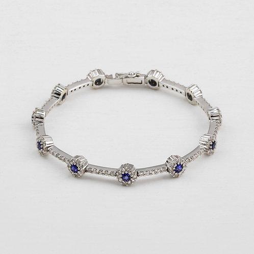 Sapphire Halo Bracelet