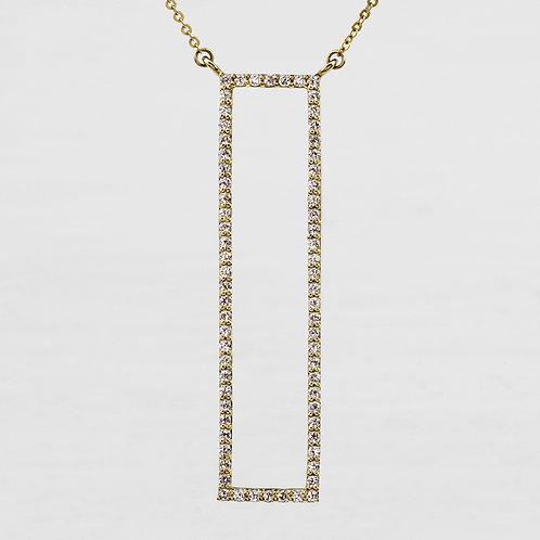 Rectangle Diamond Necklace