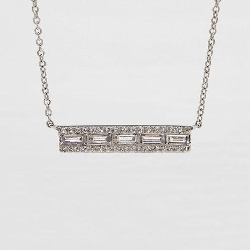 Baguette Channel Necklace