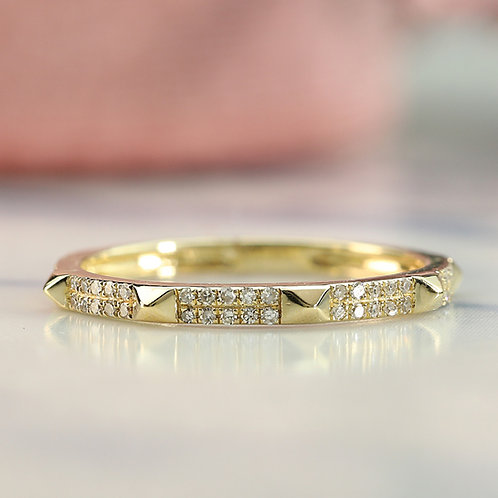 Spiked Pave Band