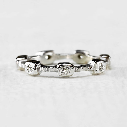 White Sprinkled Diamond Band