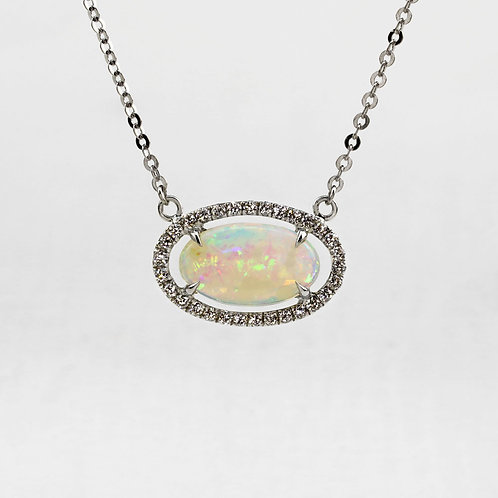 East West Opal Necklace
