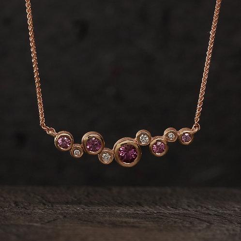 Garnet Bezel Necklace