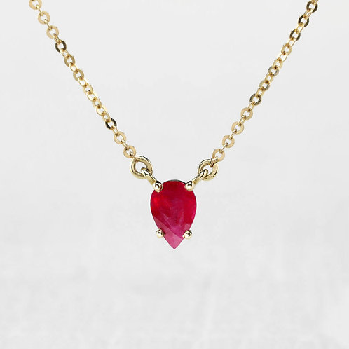 Pear-Shaped Ruby Necklace