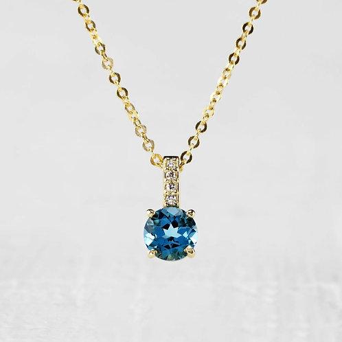Petite Blue Topaz Pendant