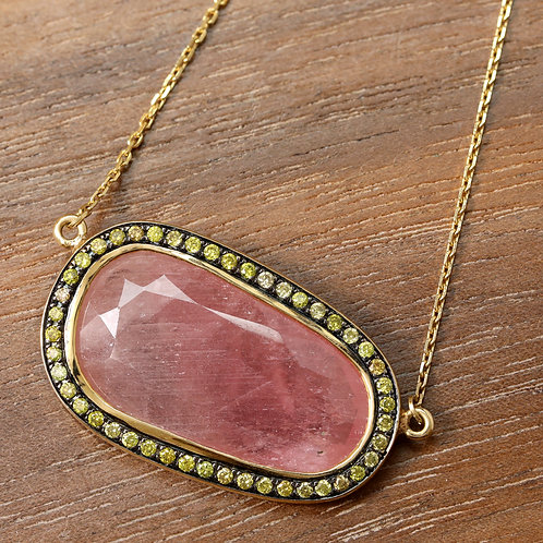 Natural Pink Sapphire Necklace
