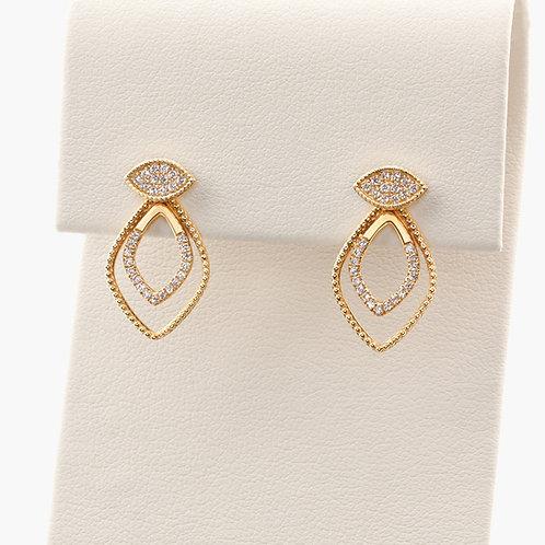 Marquise Jacket Stud Earrings