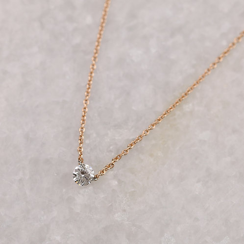 Drilled Diamond Necklace