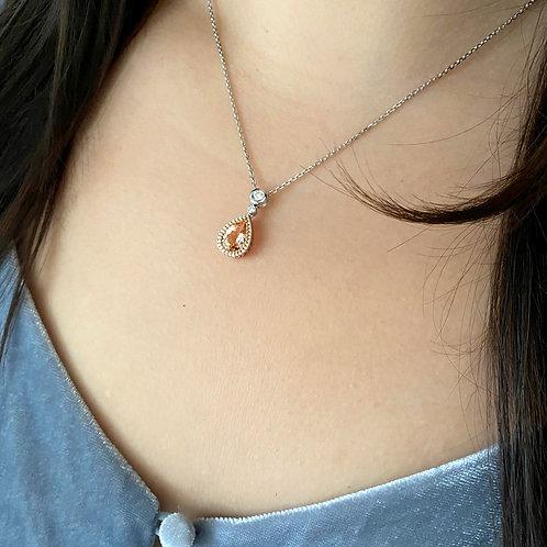 Pear Morganite Necklace