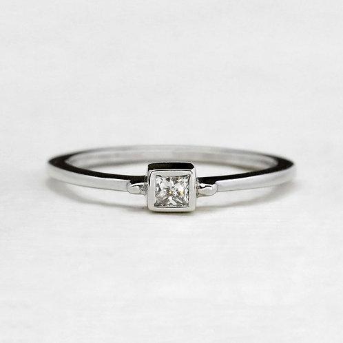 Bezel Princess Cut Ring