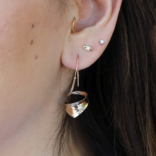 Wide Spiral Earrings