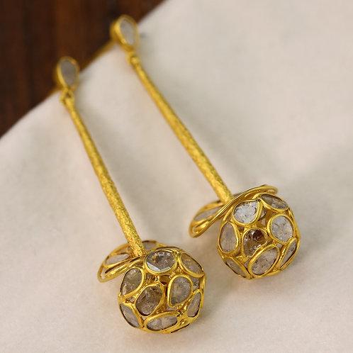 Diamond Slice Earrings