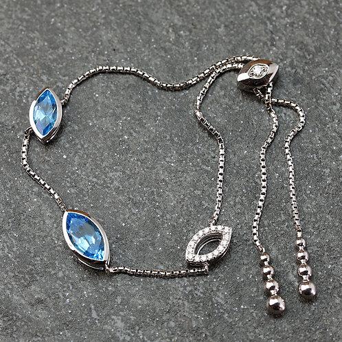 Asymmetrical Topaz Bracelet