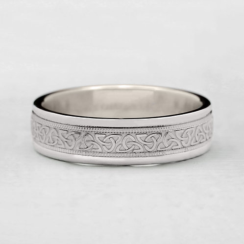 Engraved Celtic Band