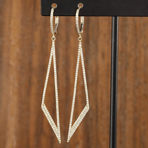 Angle Drops in Yellow Gold