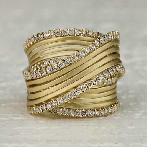 Gold and Diamond Ribbon Band