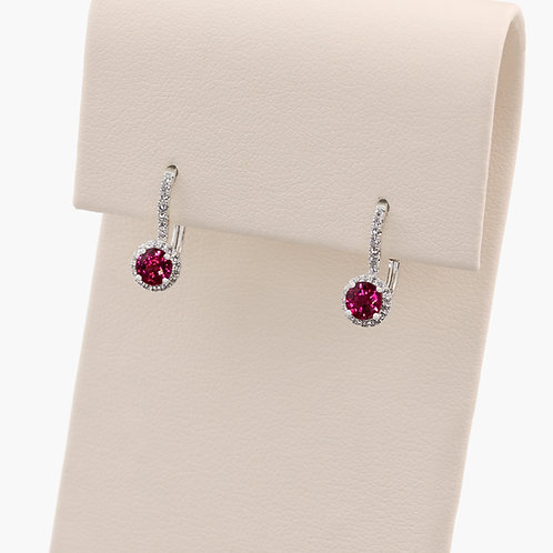 Ruby & Diamond Leverbacks