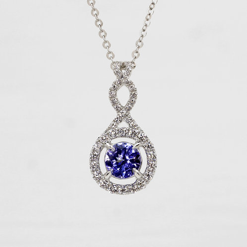 Continual Twist Tanzanite Pendant