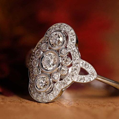 Triple Bezel Diamond Ring