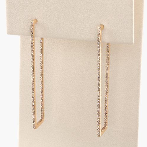 Line Hoop Earrings