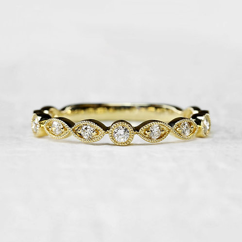 Double Marquise Pattern Band
