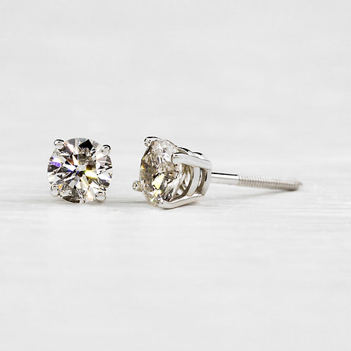Round 1.25tcw Diamond Stud Earrings