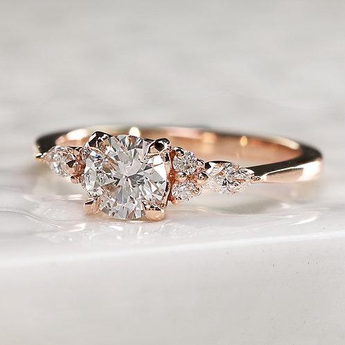 The Fleur with Round Diamond