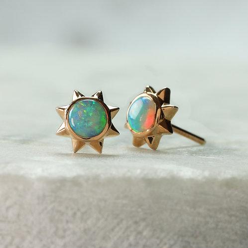 Opal Starburst Earrings