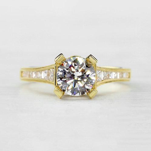 Tapered Diamond Ring