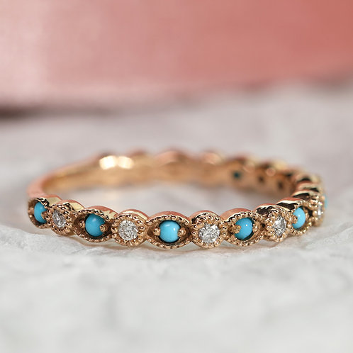 Rose Gold Turquoise Band