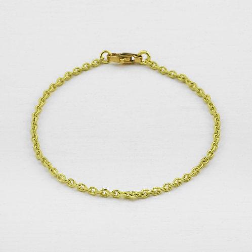 Yellow gold Textured Bracelet