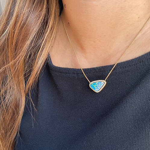 Halo Opal Necklace