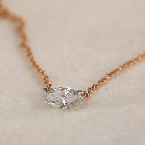 Floating Marquise Diamond Necklace