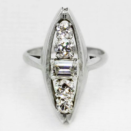 Five Diamond Marquise Ring