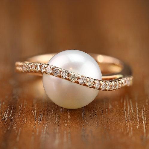 Swirl Pearl Ring