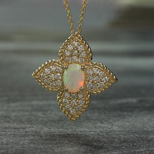 Opal Clover Necklace